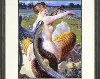 Jacek Malczewski Print - Allegro - Polish Art - Chimera Picture - Violin Picture