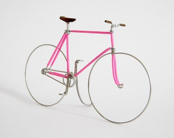 Pink Fixed Gear Wire Bike