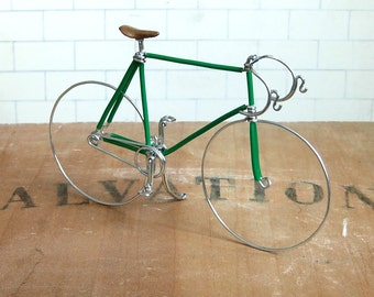 Green Wire Track Bike