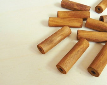 Tube Natural Wood Beads,Do it Yourself Geometric necklace