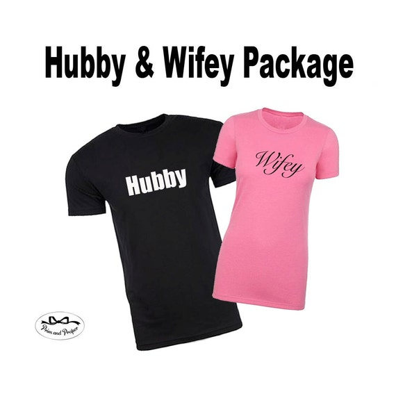 Hubby and Wifey Shirts, Husband and Wife Shirts, Just Married Shirts, Couples Shirts, Honeymoon Shirt Package, Hubby Shirt, Wifey Shirt