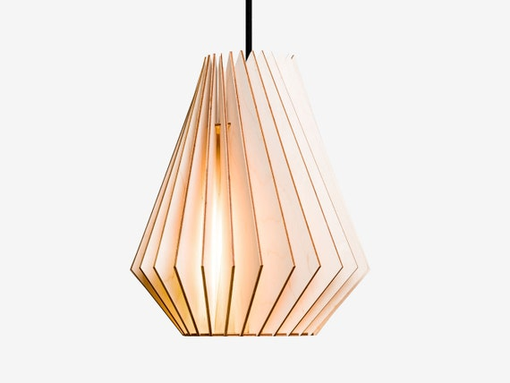 HEKTOR wood lamp,  wooden lampshade, pendant lighting, hanging light, wood design