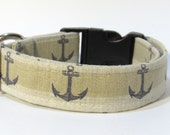 Anchor Dog Collar, Dog Collar, FREE SHIPPING, Anchor, adjustable dog collar