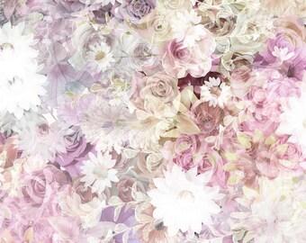 Double Exposure Floral - Vinyl Photography Backdrop Photo Prop