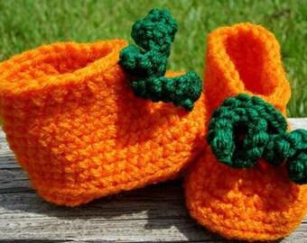 Crochet Pumpkin Booties