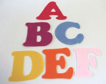 Felt Letters, abc letters, Learn the alphabet, Alphabet Toy, Fabric Letters, Educational Toys, Learn to Read