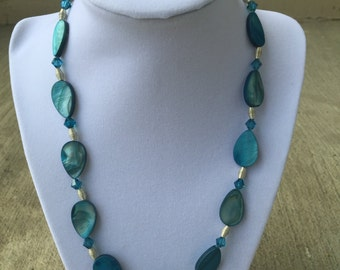 Blue Shell Necklace
