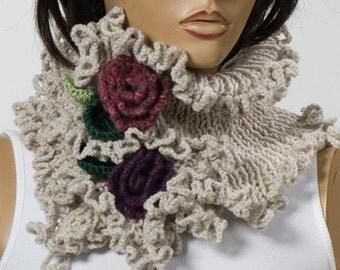 New Season Knitting Scarf. Neck Warmer. Valentine Gift. Trend Scarf. Mothers Day. STONE Neck wrap.
