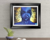 Deep Expression Signed Art Print of Signature Original By Rafi Perez
