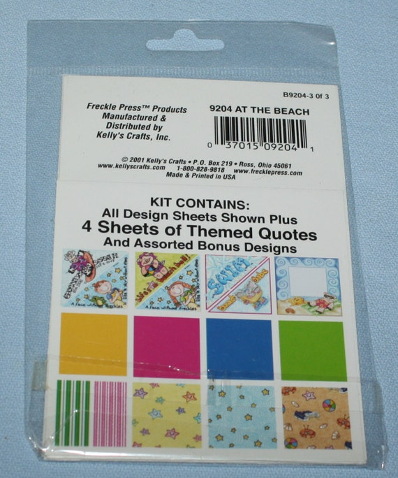Freckle Press At the Beach Theme Pack B9204 Scrapbooking ...  Beach Quotes And Sayings For Scrapbooking