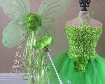 Tinkerbell Costume, Tinkerbell Dress, Tinkerbell Fairy Wings, Tinkerbell tutu, Tinkerbell Party Favors,Tinkerbell Tutu, Tinkerbell Birthday