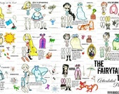 The Fairytale Diaries articulated paper dolls, fairy tale paper dolls, fairy tale princess, art dolls, digital download