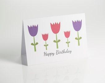 Tulips birthday card