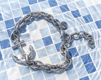 Waterproof stainless steel nautical anchor bracelet - Narragansett