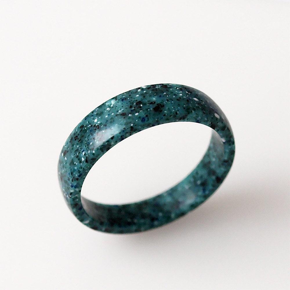 5mm green ring wedding ring band rings corian ring green