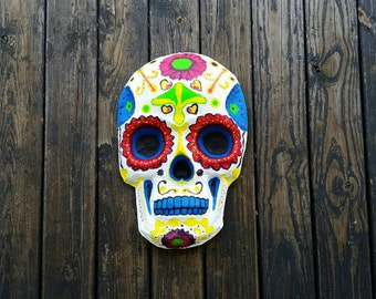 Day of the Dead Paper Mache Skull