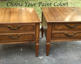 Paint to Order -- Perfectly Square Vintage SideTables