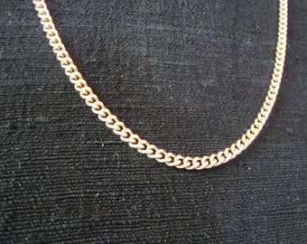 "American Showcase Gold-tone Flat Chain 18"" Necklace"