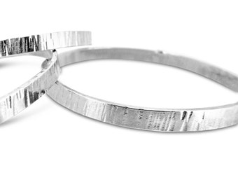 Sterling Silver Bangle, Solid Sterling Silver Bangle, Sterling Silver Textured Bangle, Silver Textured Bangle, Gift for Her