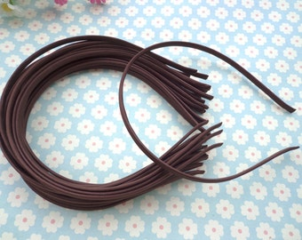 10 pcs Brown Cloth Covered Headband 5mm Wide