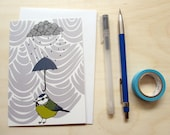 Greetings card 'Rainy day' A6 Digitally printed