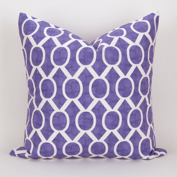 Throw Pillow Case Size : Purple Pillow Cover MANY SIZES Geometric Throw Pillow