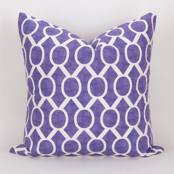 Throw Pillow Cover Measurements : Purple Pillow Cover MANY SIZES Geometric Throw Pillow
