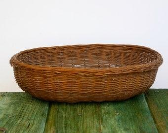 Oval rustic Italian wicker basket