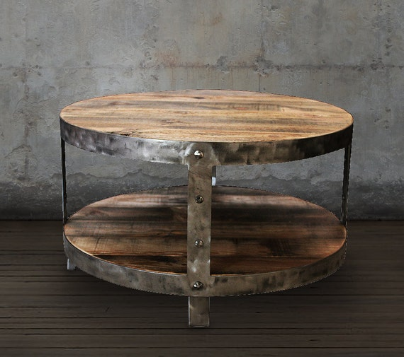 Etsy Round Coffee Tables: Reclaimed Wood Coffee Table Round Coffee Table