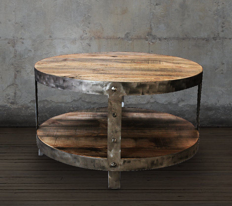reclaimed wood coffee table round coffee table. Black Bedroom Furniture Sets. Home Design Ideas