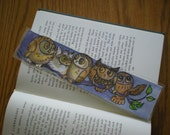 RESERVED for Tina *Watercolor Bookmark Little Owls