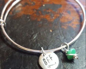 Custom adjustable bangle  bracelet