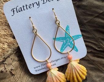 Hawaiian Sunrise Shell Earrings