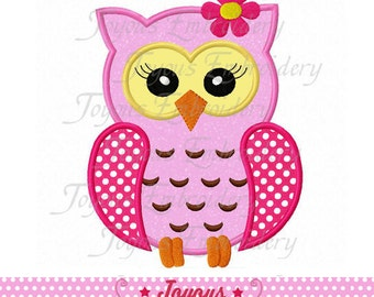 Instant Download Girl Owl  Applique Embroidery Design NO:1773