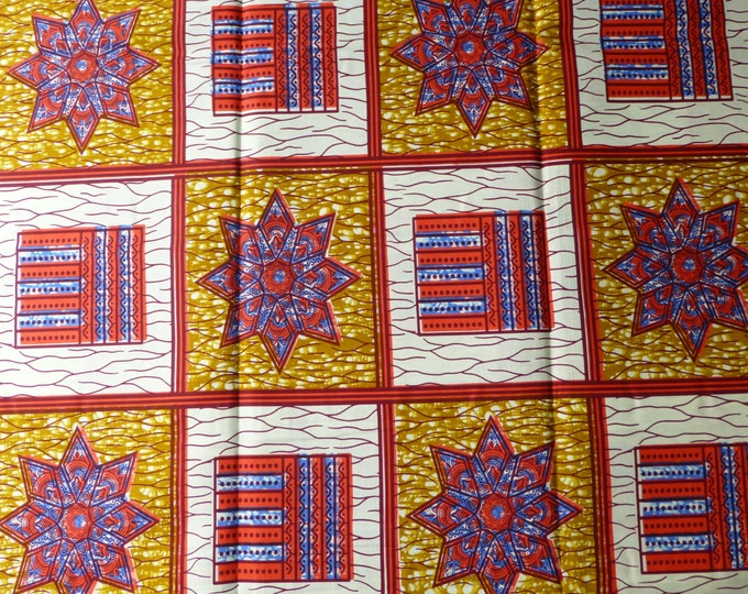 Julius Holland Block Wax Print African Fabric For Dressmakings/Fabric for Sewing Dresses, Skirts, Sold By The Yard151782285575