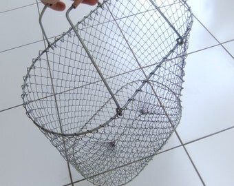 Vintage Wire Mesh Collapsible Market Bag