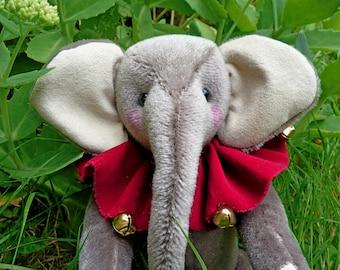OOAK Hand Made Mohair Elephant