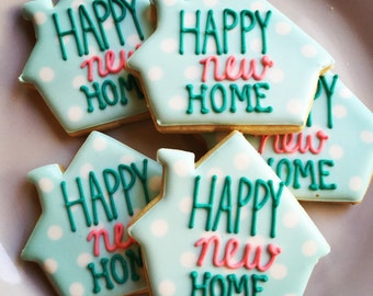 Housewarming Decorated Sugar Cookies-1 dozen