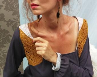 Top / long sleeves shirt / gray / origami / Liberty.13515