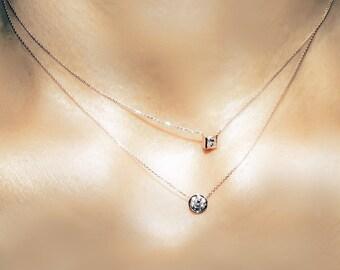 The 15 princess cut diamond necklace
