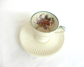 Wedgewood Edme Meadow - vintage Wedgewood cup and saucer - vintage Wedgewood Patrician - vintage floral cup and saucer