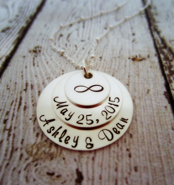 Wedding Date Necklace, Bridal Shower Gift, Gift for Bride, Wedding ...