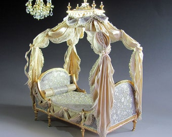 1:12th Scale ~  Dolls House ~ EXQUISITE DUCHESS DAYBED