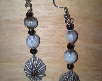 Kauai Kauai opihi shell earrings with jobs tears