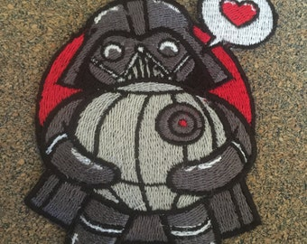 The dark side of love Iron on or sew on Patches