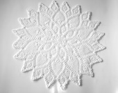 round crochet doily white custom request