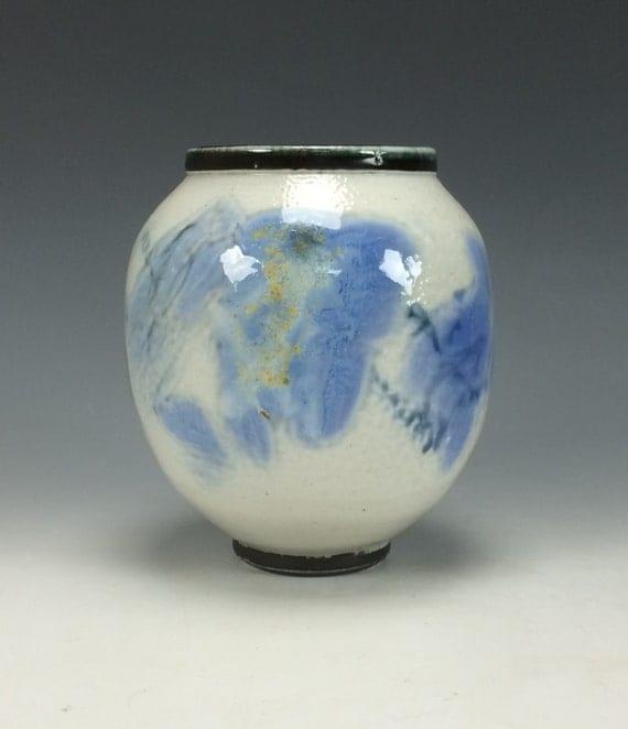 Blue White and Black Ceramic Vase Modern Home Decor Unique