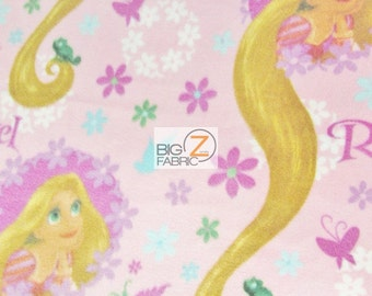 "Disney Princess Tangled Rapunzel By Springs Creative Fleece Printed Fabric - 60"" Width Sold By The Yard (FH83)"