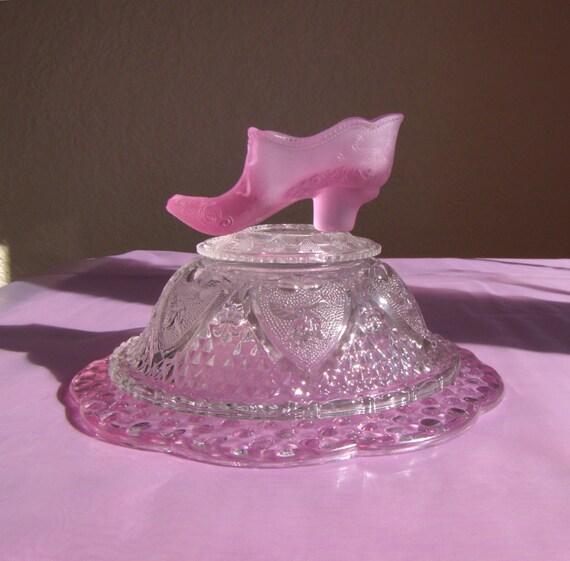 Glass cinderella birthday baby bridal shower centerpiece