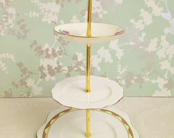 Christy Vintage Green 3 Tier Cake Stand